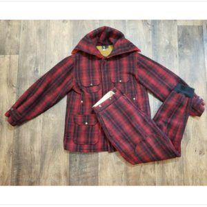 Vtg Woolrich Hunter's Plaid Coat and Pants Set